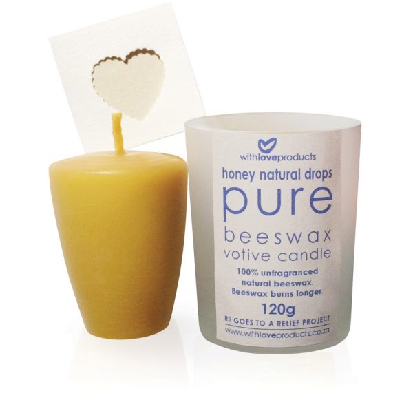 New-Drops-Pure-Beeswax-Votive-Candle-Natural-W